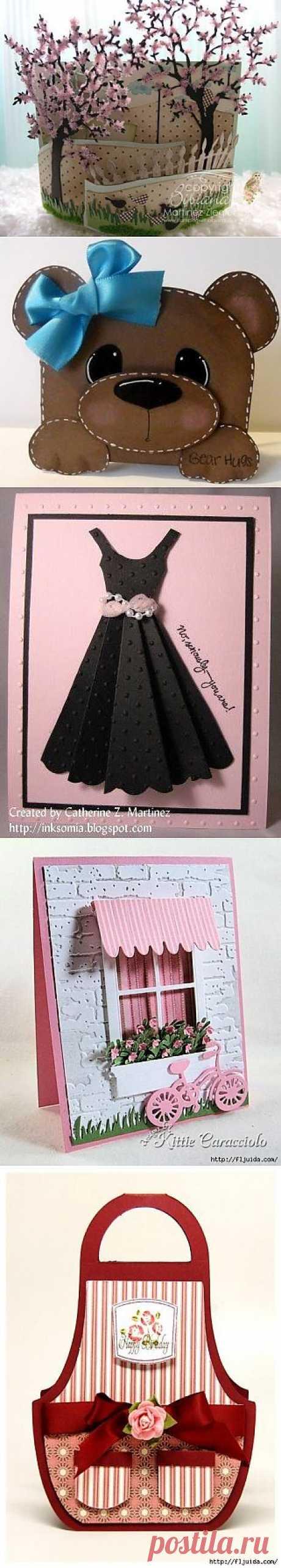 Идеи оформления открыток, мастер-класс / Бумага и карандаши (скрапбукинг, оригами, и т.д.) /