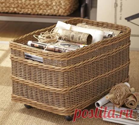 Модное хобби: плетем из газетных трубочек корзинки для дачи на зависть соседке | Селовед — идеи дачи и огорода | Яндекс Дзен