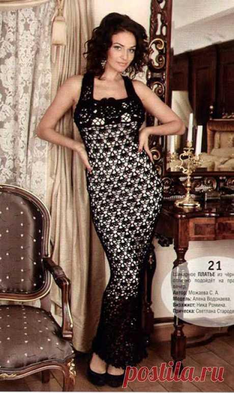 Вечернее черное платье с открытой спиной крючком – ТОП 3 модели со схемами и описанием — Пошивчик одежды