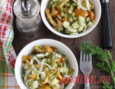 Картофельный салат с грибами и маринованным луком   Официальный сайт кулинарных рецептов Юлии Высоцкой