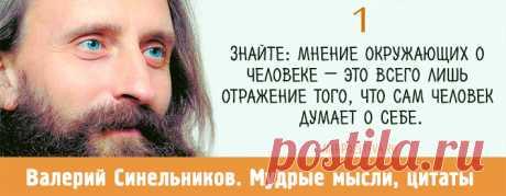 Валерий Синельников: 15 мудрых мыслей | Читать на сайте Мир позитива