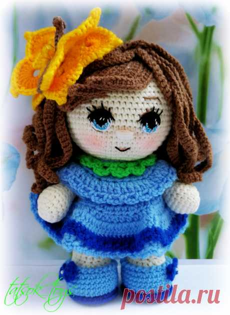 PDF Пупс-малышка Колокольчик крючком. FREE crochet pattern; Аmigurumi doll patterns. Амигуруми схемы и описания на русском. Вязаные игрушки и поделки своими руками #amimore - Кукла, doll puppet, muñeca boneca, poupée, puppe, panenka, bebek, lalka. Amigurumi doll pattern free; amigurumi patterns; amigurumi crochet; amigurumi crochet patterns; amigurumi patterns free; amigurumi today.