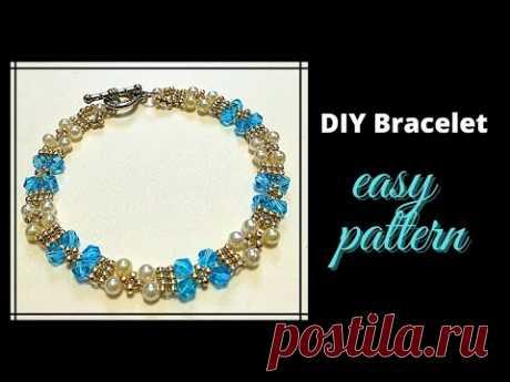 2021 Beading pattern for beginners. Easy beading pattern. DIY Bracelet