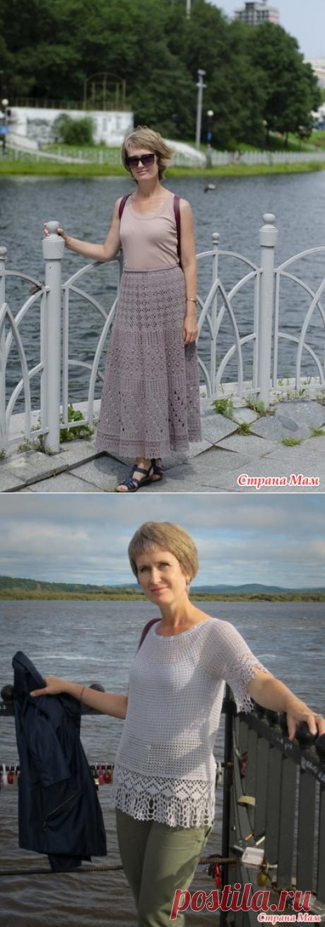 Узорчатая ажурная юбка и летний топ от sewer1991 (Страна Мам). Крючком. Схемы. / Страна Мам