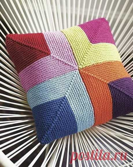 Подборка вязаных подушек. Интересные идеи.   Наташка   Яндекс Дзен