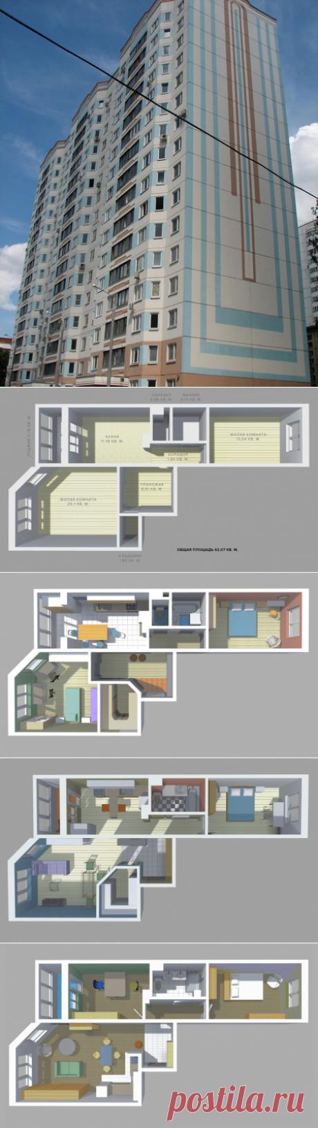 Перепланировка двушки: дизайнерский подход — Наши дома