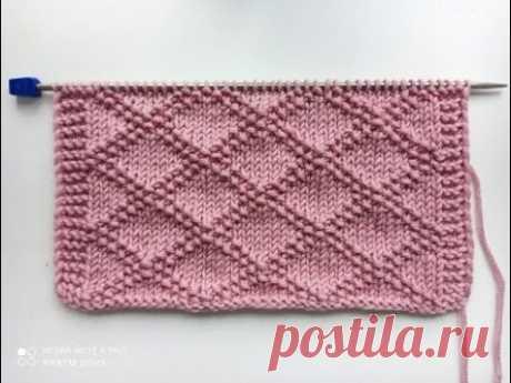 Красивый, рельефный узор спицами для вязания кардигана, джемпера, свитера, шапки. - YouTube