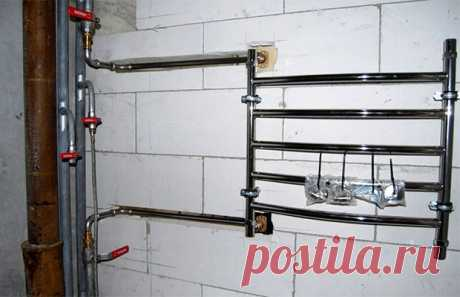 Как собрать полотенцесушитель или перенести его на другую стену