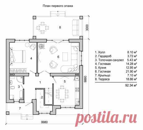Проект двухэтажного дома 130 м2 - Новация 66