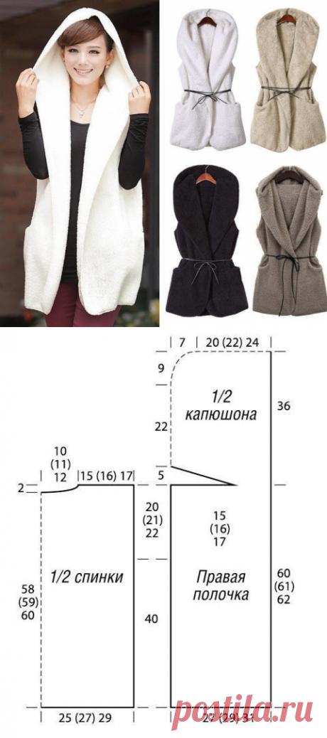 Выкройка жилета с капюшоном / Простые выкройки / ВТОРАЯ УЛИЦА