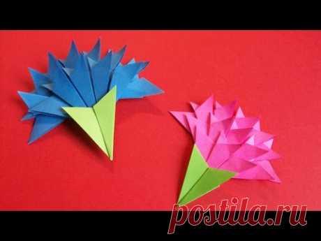 Смотрите, как Очень ПРОСТО и БЫСТРО сделать цветы из бумаги на открытку своими руками. Бумажный цветок гвоздика отлично подойдет для создания объемных открыт...
