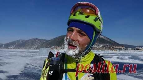 Трехдневная экстремальная гонка по льду на коньках и велосипедах стартовала на Байкале | Спорт
