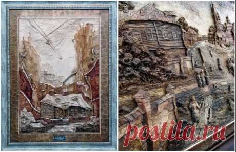 Резные работы семейной мастерской Виктора Дубовика – от масштабных проектов до фантастических панно