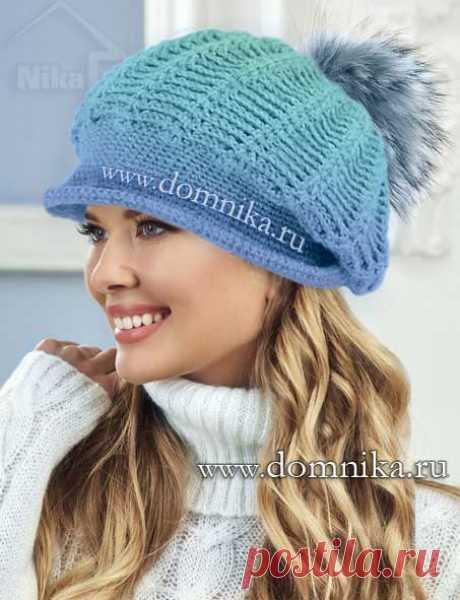 Теплая зимняя шапка крючком - модель зима 2018-2019