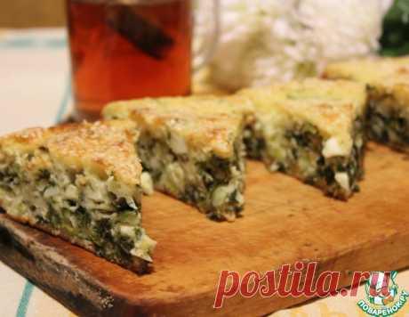 Заливной пирог с зеленью и яйцом – кулинарный рецепт