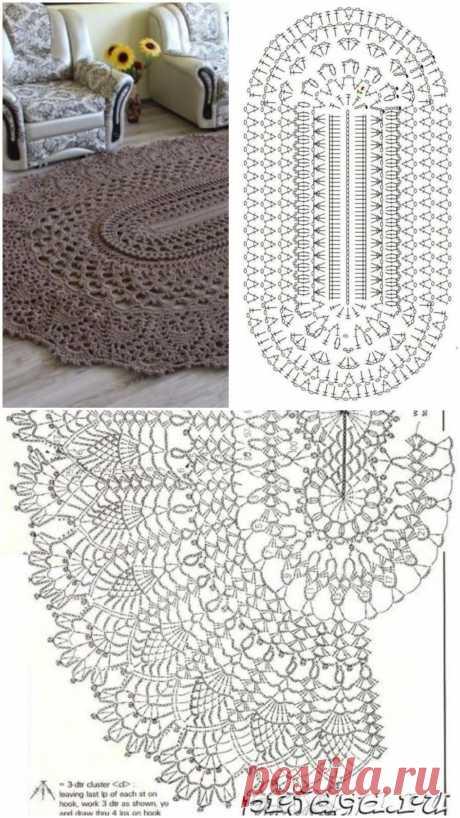 Роскошные вязаные ковры со схемами — DIYIdeas