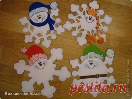Забавные снежинки — Поделки с детьми