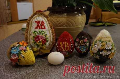 Вяжем пасхальное яйцо крючком Продолжаю тему изготовления пасхального яйца крючком. Приближается праздник Воскресения Христова, а с ним и ожидание подарка в виде самого главного символа этого светлого праздника.