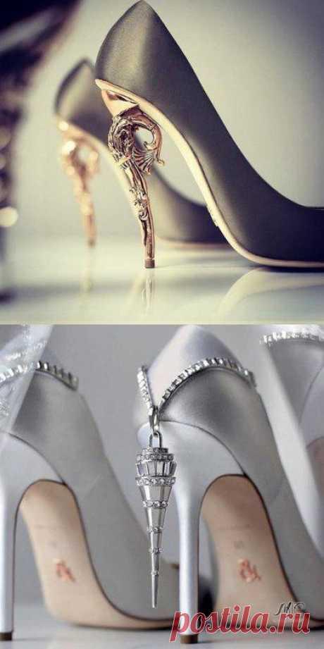 Необычно красивый дизайн туфель.