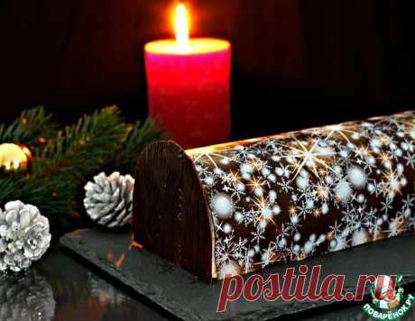 """Торт """"Новогоднее полено с клюквой"""" – кулинарный рецепт"""