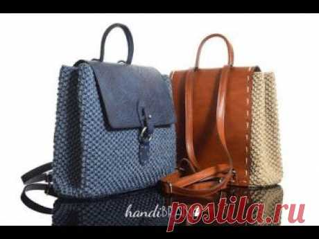 Las bolsas y las mochillas del hilado de punto (15 DIY) \/ las Bolsas, klatchi, las maletas \/ la SEGUNDA CALLE