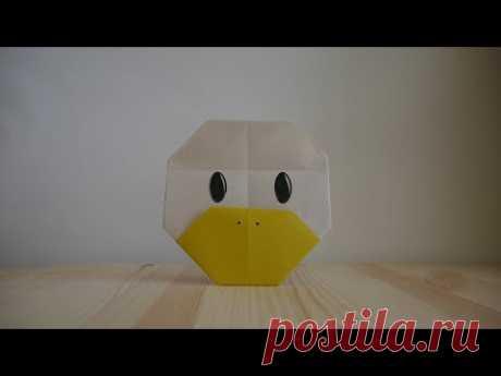 Оригами. Как сделать утку из бумаги (видео урок) - YouTube
