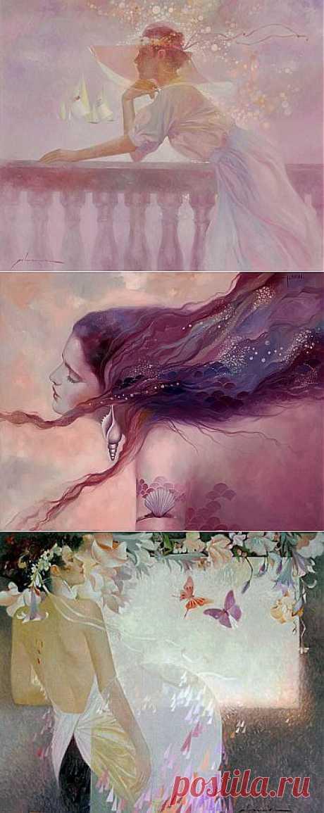 Женщина всегда чуть-чуть, как море.... Художник Felix Mas..