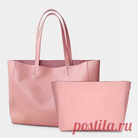 Women 2PCS Large Capacity 14 Inch Laptop Multi-pocket Handbag Shouder Bag Tote - US$59.99