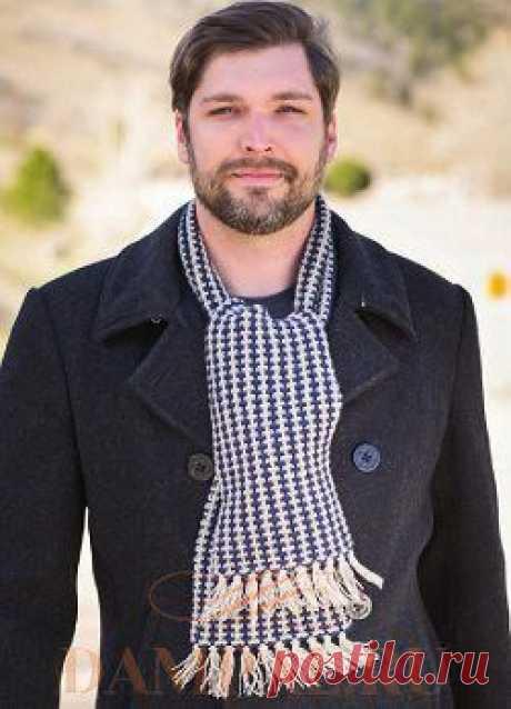 Two-color man's scarf | Damskiye Palchiki. ru