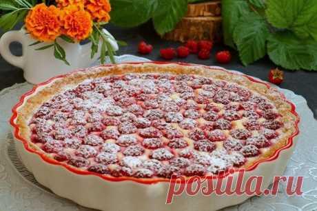Творожный пирог с малиной — Sloosh – кулинарные рецепты