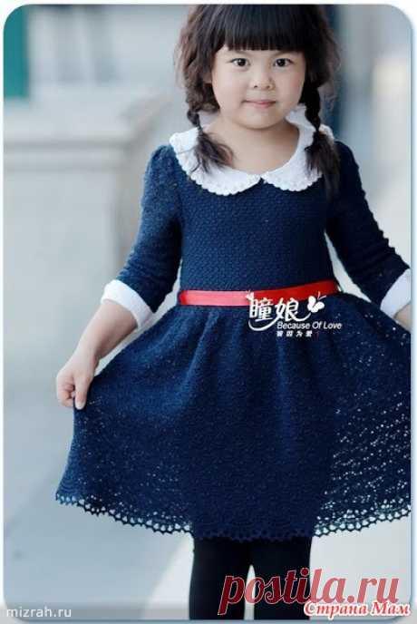 """Платье """"Отличница"""" - Вязание для детей - Страна Мам"""