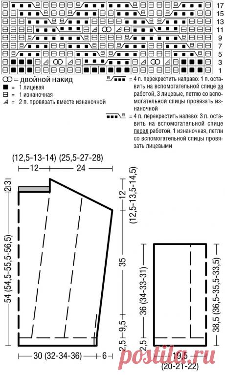 Розовый джемпер-оверсайз - схема вязания спицами — Бабушкины секреты