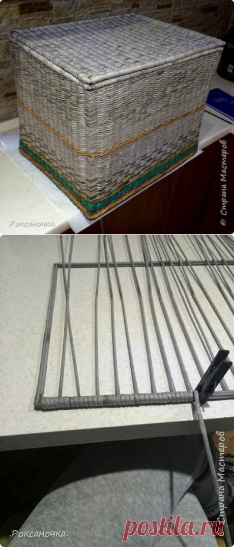 Прямоугольный короб на каркасе. Этапы плетения | oblacco