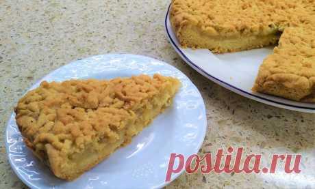 Лимонно-яблочный пирог из песочного теста   Мечтательная кошка   Яндекс Дзен