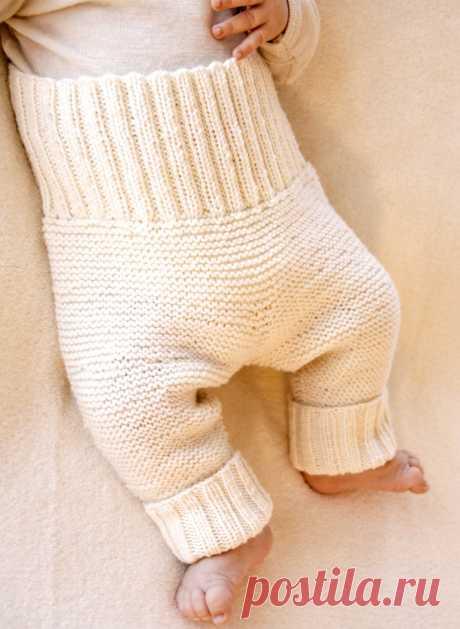 Белые штанишки - схема вязания спицами. Вяжем Брюки на Verena.ru
