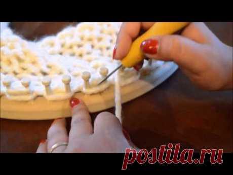 Loom Knit Chunky Seed Stitch Cowl