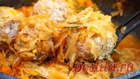 Тефтели с капустой (иде для обеда или ужина) | Готовим с Калниной Натальей | Яндекс Дзен