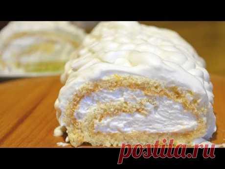 Удачный бисквит для рулетов 🔴Не трескается, скручивать горячим не нужно!