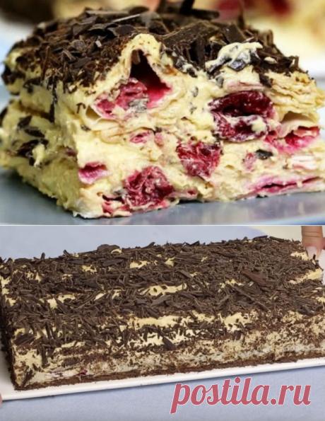 Торт из вишни не надо печь: просто выкладываем в посуду