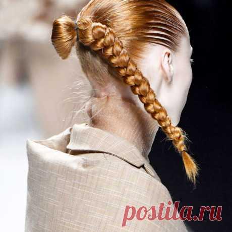 Прически, осень-зима 2018: тенденции с Недели моды в Милане | BURO.