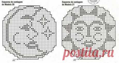Knitted pillows — fillet knitting + schemes | razpetelka.ru