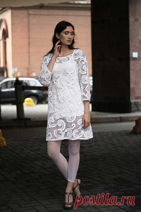 Irish crochet dress only to order for photo shoot Royal dress | Etsy