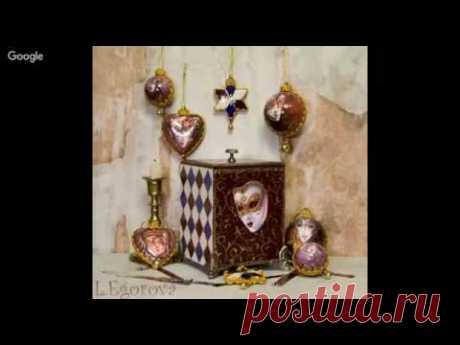 Decoupage. Imitation of plates, decoupage of hours. Lilia Egorova