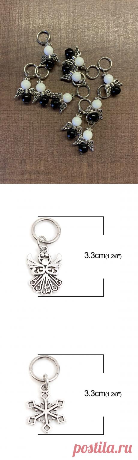 Античное серебро Цвет Ангел Снежинка Вязание стежка маркеры цинковый сплав на основе ремесла домашнего обихода Вязание инструменты, 10 шт.   Дом и сад   АлиЭкспресс