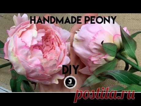 DIY. 🌸Peony 3. Sepals and stalk. МК пион из фоамирана. Чашелистик, листья и стебель.