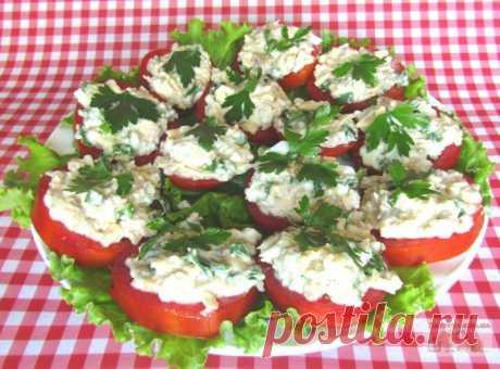 Закуска из печени трески и помидоров — Кулинарная книга - рецепты с фото