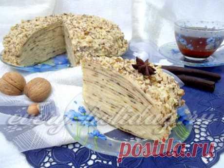 """Блинный торт """"Наполеон"""" - рецепт с фото"""