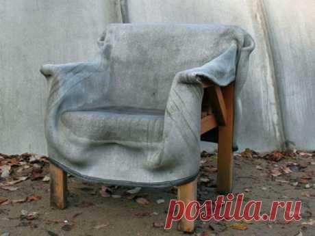 Открываем дачный сезон. Мягкая мебель из бетона и креативные скульптуры из цемента | Журнал Ярмарки Мастеров