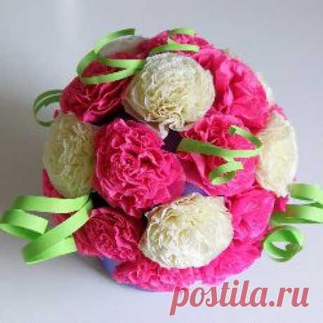 Как делать гофрированные цветы