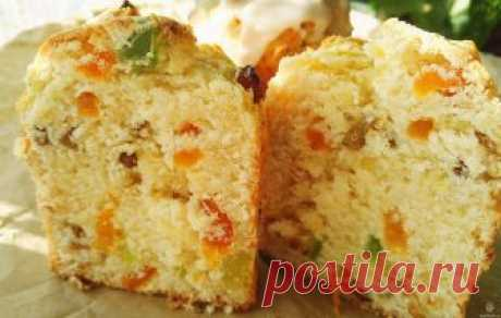 It is unreal a juicy Easter cake for Easter from cottage cheese with big quantity of dried apricots, candied fruits and raisin. Only 40 minutes on All preparation!